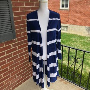 Long Duster Style Co Lightweight 1X Cardigan